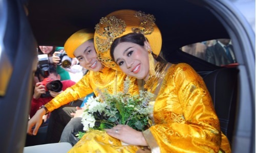 Toàn cảnh lễ rước dâu bạc tỷ của Lâm Khánh Chi cùng ông xã kém tuổi